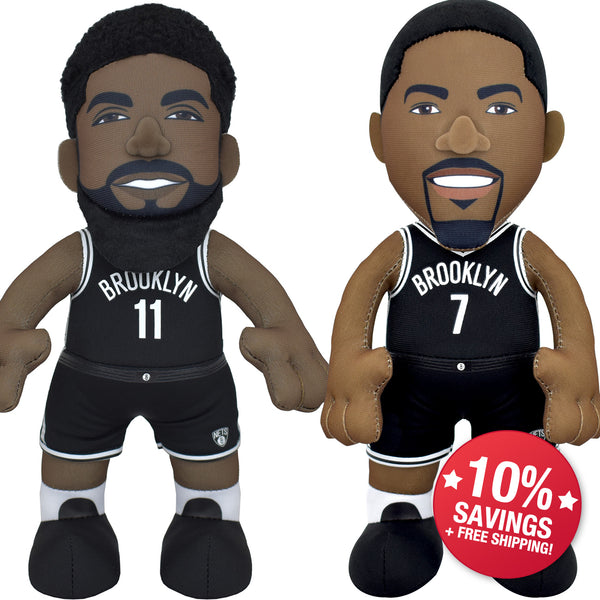 "Brooklyn Nets Dynamic Duo Bundle: Kevin Durant and Kyrie Irving 10"" Plush Figure"