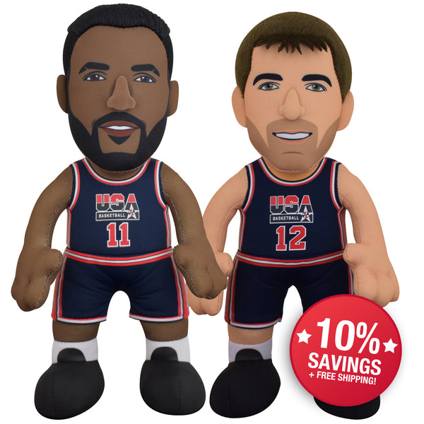 "USA Basketball Dynamic Duo Bundle- Karl Malone and John Stockton 10"" Plush Figures"