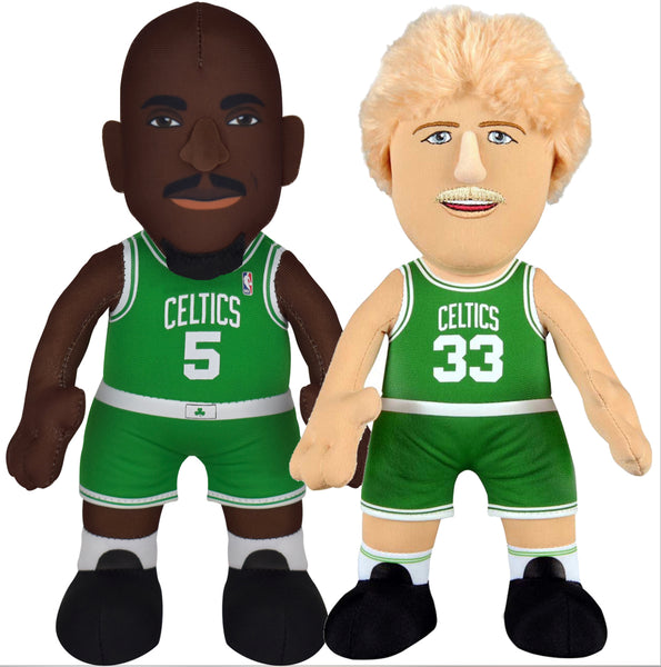 "Boston Celtics Larry Bird & Kevin Garnett 10"" Plush Figure Bundle- 10% Savings"
