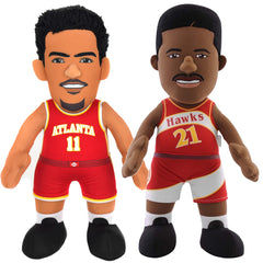"Atlanta Hawks Dominique Wilkins & Trae Young 10"" Plush Figure Bundle"