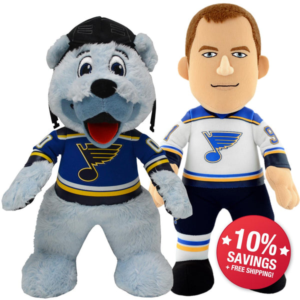 "St Louis Blues Bundle: Mascot Louie and Vlad Tarasenko 10"" Plush Figures"