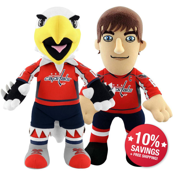 "Washington Capitals Bundle: Mascot Slapshot and Alex Ovechkin 10"" Plush Figures"