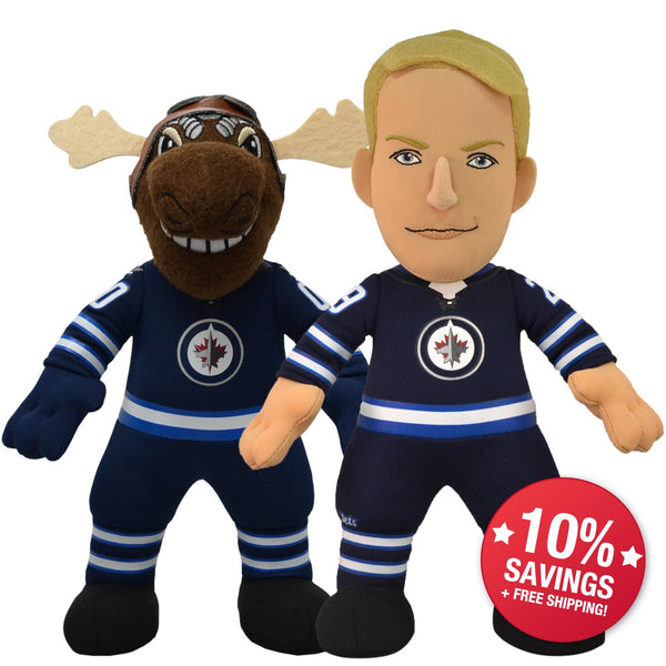 "Winnipeg Jets Bundle: Micke E. Moose and Patrik Lane 10"" Plush Figures"