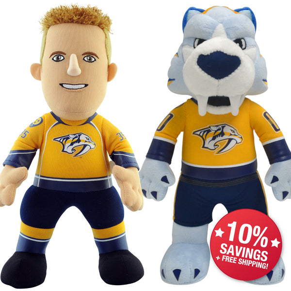 "Nashville Predators Bundle: Mascot Gnash & Pekka Rinne 10"" Plush Figures (10% Savings)"