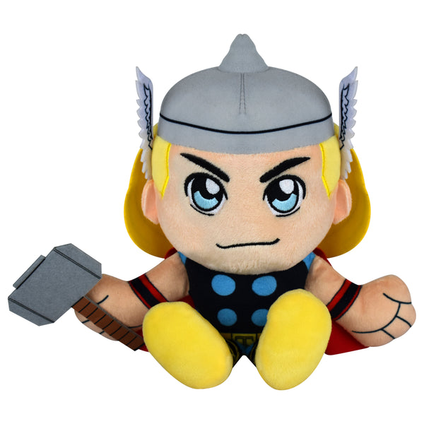 "Bleacher Creatures Marvel Thor 8"" Kuricha Sitting Plush- Soft Chibi Inspired Toy"
