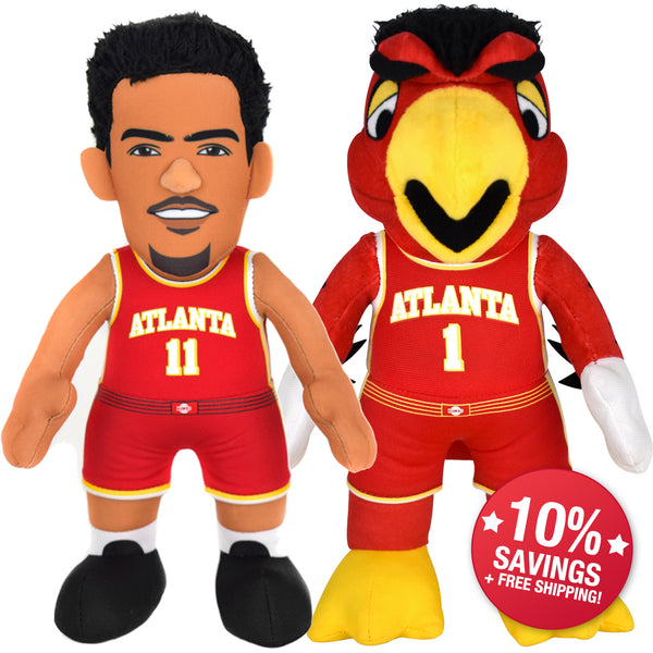 "Bleacher Creatures Atlanta Hawks Harry & Trae Young 10"" Plush Figure Bundle -PRESELL SHIPPING 10/25"