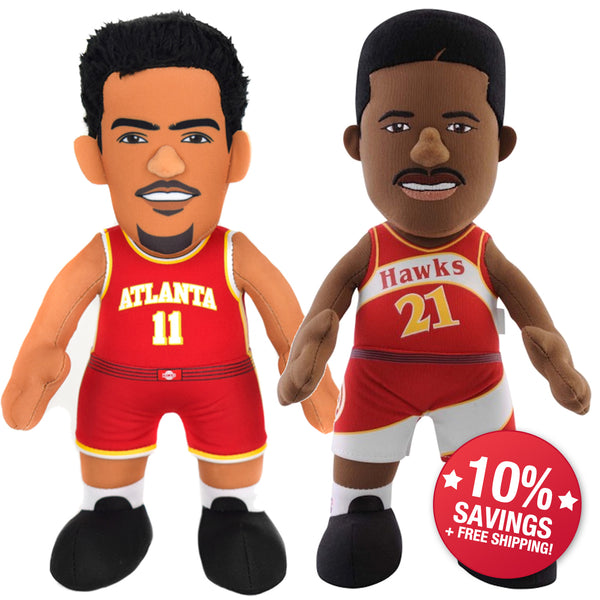 "Atlanta Hawks Dominique Wilkins & Trey Young 10"" Plush Figure Bundle -PRESELL SHIPPING 11/25"