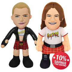 "WWE Rowdy Bundle: Roddy Piper and Ronda Rousey 10"" Plush Figures (10% Savings)"