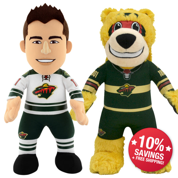 "Minnesota Wild Bundle: Mascot Nordy and Zach Parise 10"" Plush Figures"