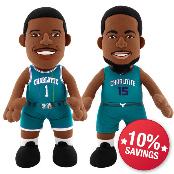 "Charlotte Hornets Bundle: Kemba Walker and Muggsy Bogues 10"" Plush Figures"