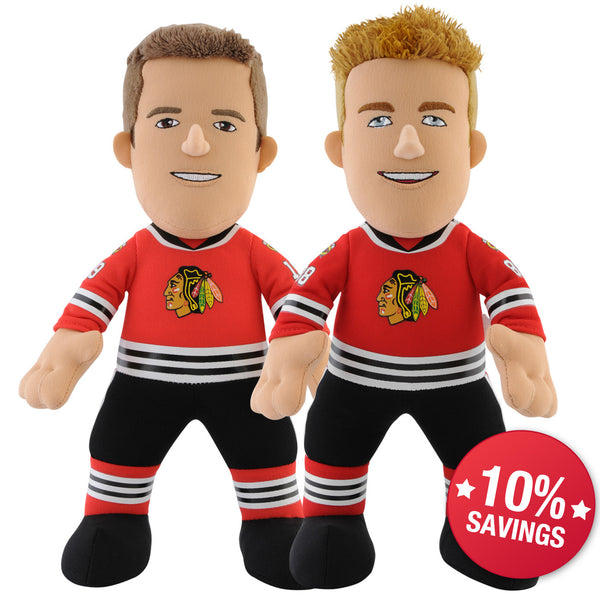 "Chicago Blackhawks Bundle: Jonathan Toews and Patrick Kane 10"" Plush Figures"