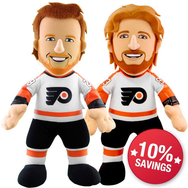 "Philadelphia Flyers Bundle: Jake Voracek & Claude Giroux 10"" Plush Figures (10% Savings)"