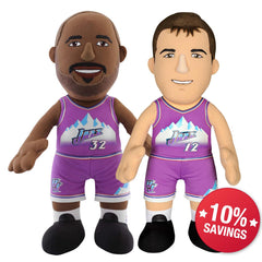 "Utah Jazz Bundle: Karl Malone and John Stockton 10"" Plush Figures"