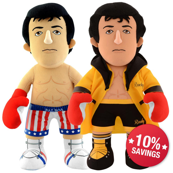 "Rocky Bundle: Rocky Italian Stallion Robe and Rocky 10"" Plush Figures"