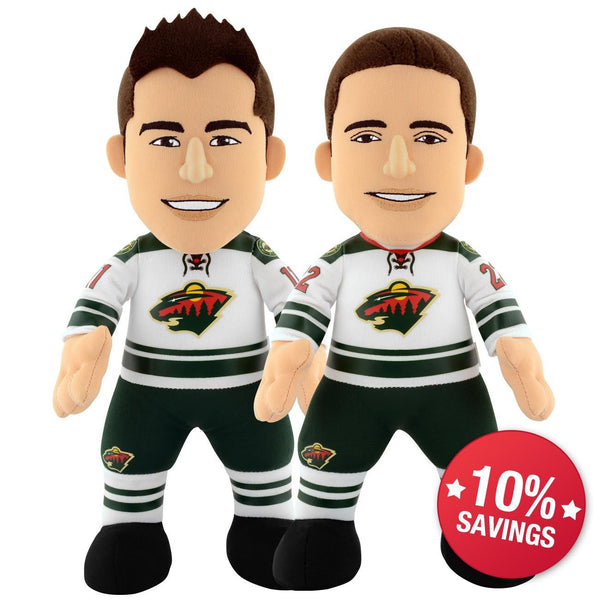"Minnesota Wild Bundle: Zach Parise and Nino Niederreiter 10"" Plush Figures"