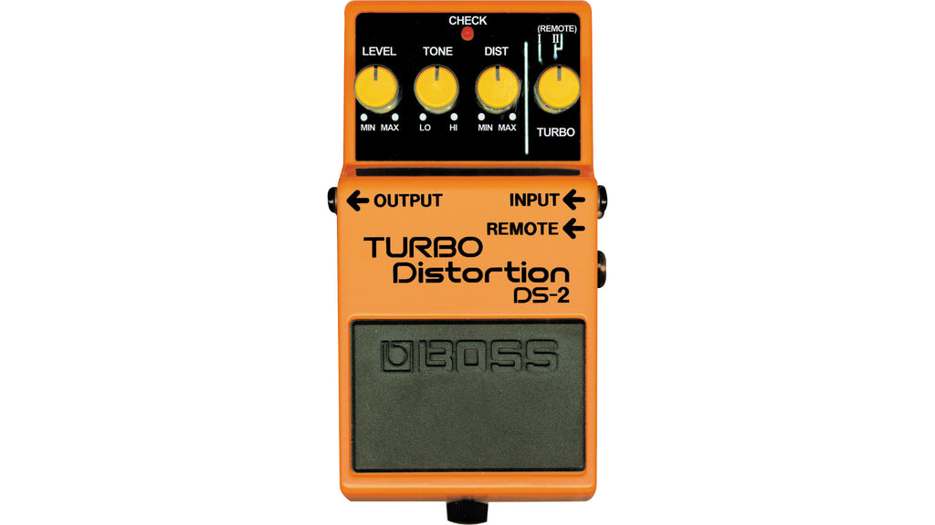 Boss DS-2 Turbo Distortion with Remote Jack Effect Pedal