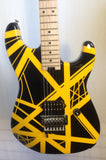 EVH Striped Series Black with Yellow Stripes Electric Guitar