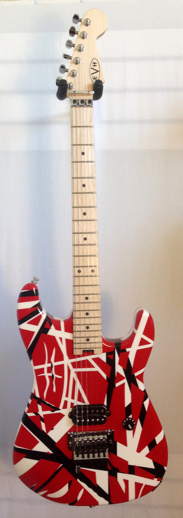 EVH Striped Series Red with White and Black Stripes Electric Guitar