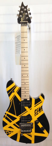 EVH Wolfgang Special Maple Fretboard Black with Yellow Stripes Electric Guitar