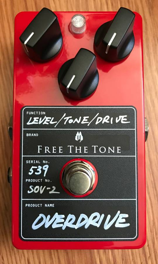 Free The Tone MS-2V MS SOV SOV-2 Overdrive Effect Pedal New In Box