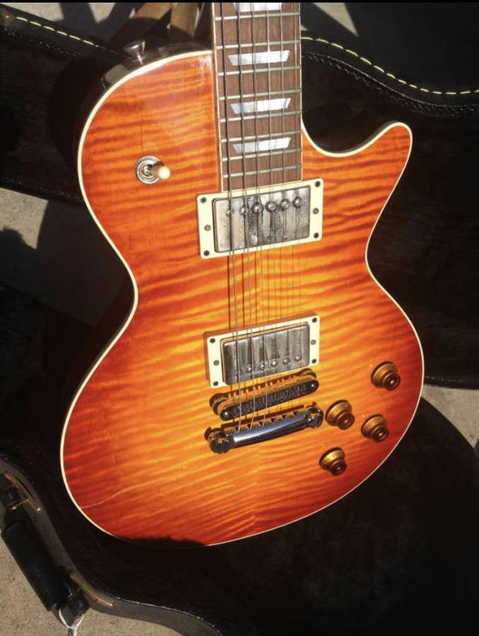 Heritage H-150 USA Hand Built Chevron Flame Maple Top with Case