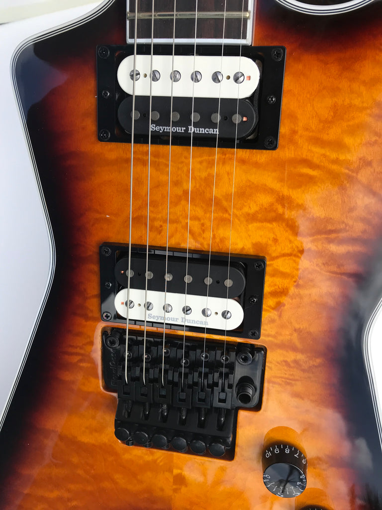Dean ML Select Floyd Quilted Maple Trans Braziliaburst