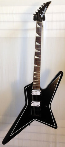 Jackson X-Series Signature Gus G Star Satin Black with White Pinstripes