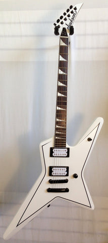 Jackson X-Series Signature Gus G Star Snow White with Black Pinstripes