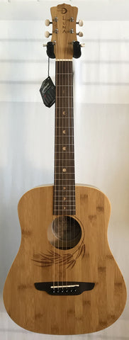 Luna Safari Bamboo Travel Guitar Acoustic with Gig Bag SAF BAMBOO