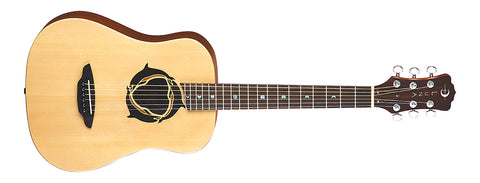 Luna Safari Dolphin Travel Acoustic Guitar with Gig Bag