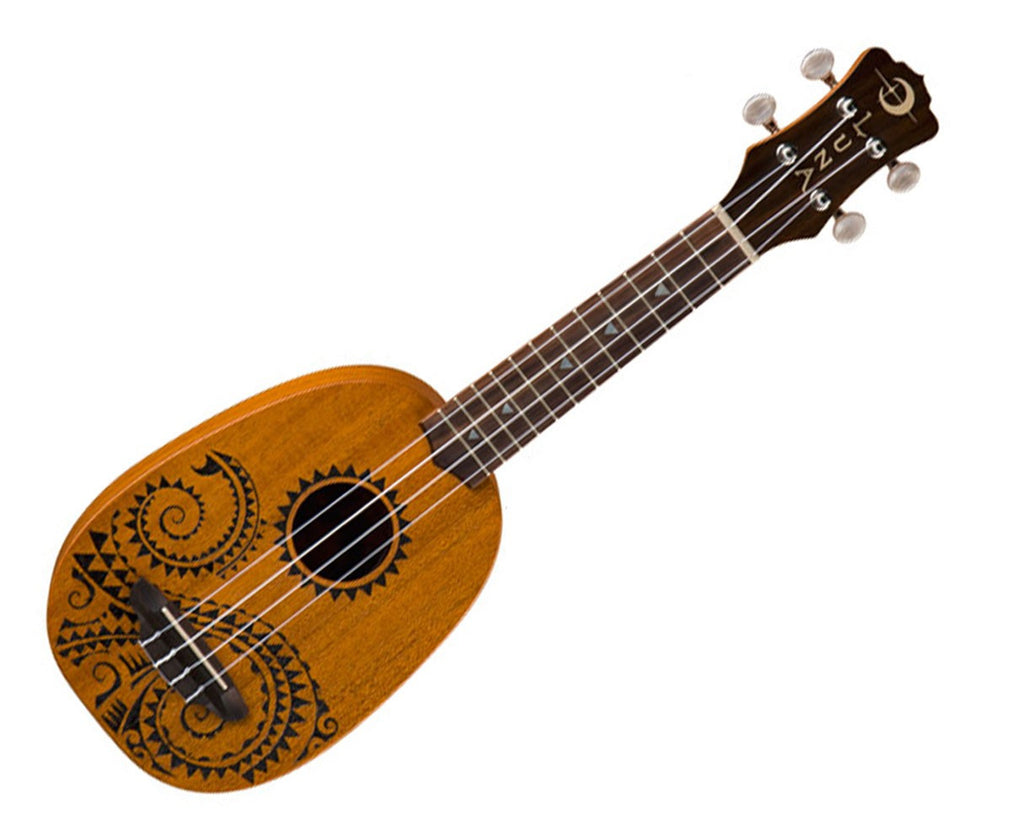 Luna UKE TATTOO Soprano Pineapple Ukulele with Gig Bag