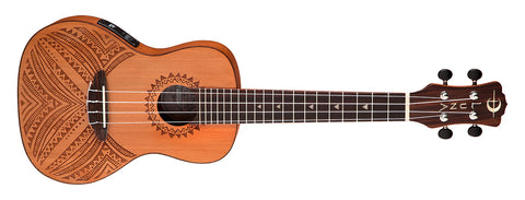 Luna UKE TAPA CDR Concert A/E Solid Cedar Top with Gig Bag