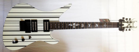 Schecter Synyster Custom White with Black Pinstripes