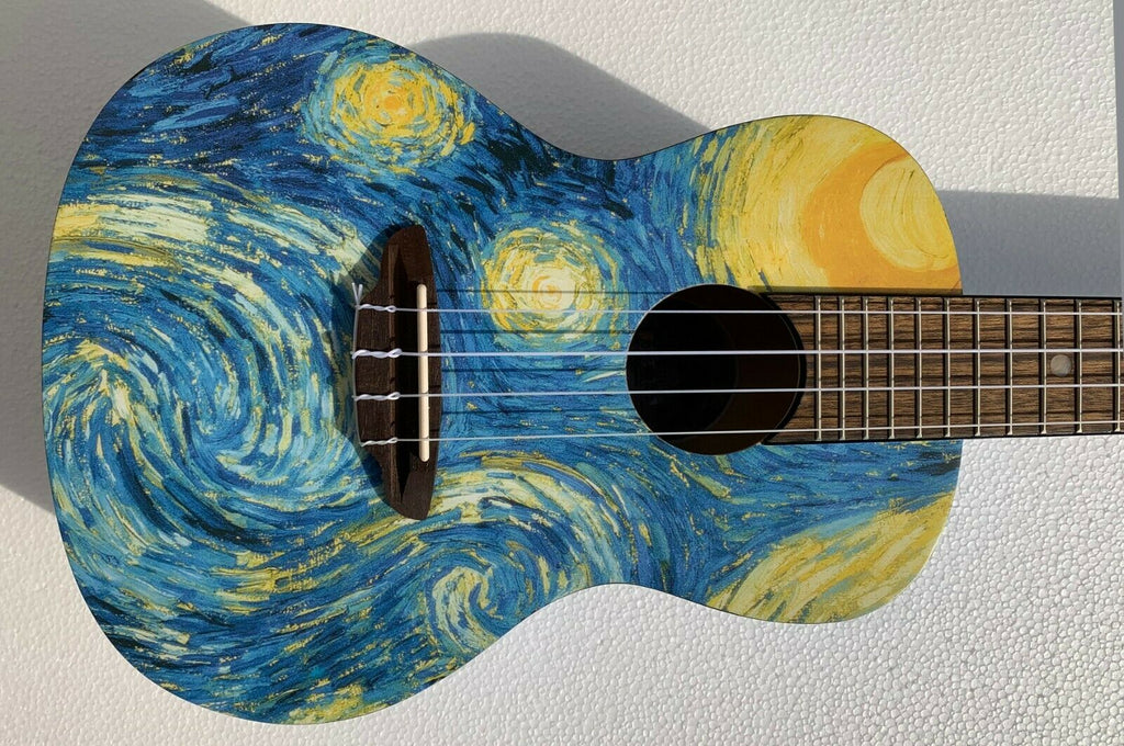 Luna UKE STR C Concert Size Starry Night Acoustic Ukulele Gig Bag