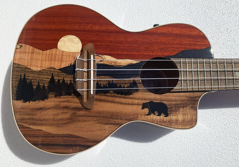 Luna Guitars UKE VISTA BEAR C Vista Bear Concert Acoustic Electric Ukulele
