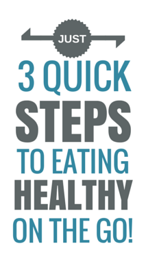 3 quick steps to eating healthy