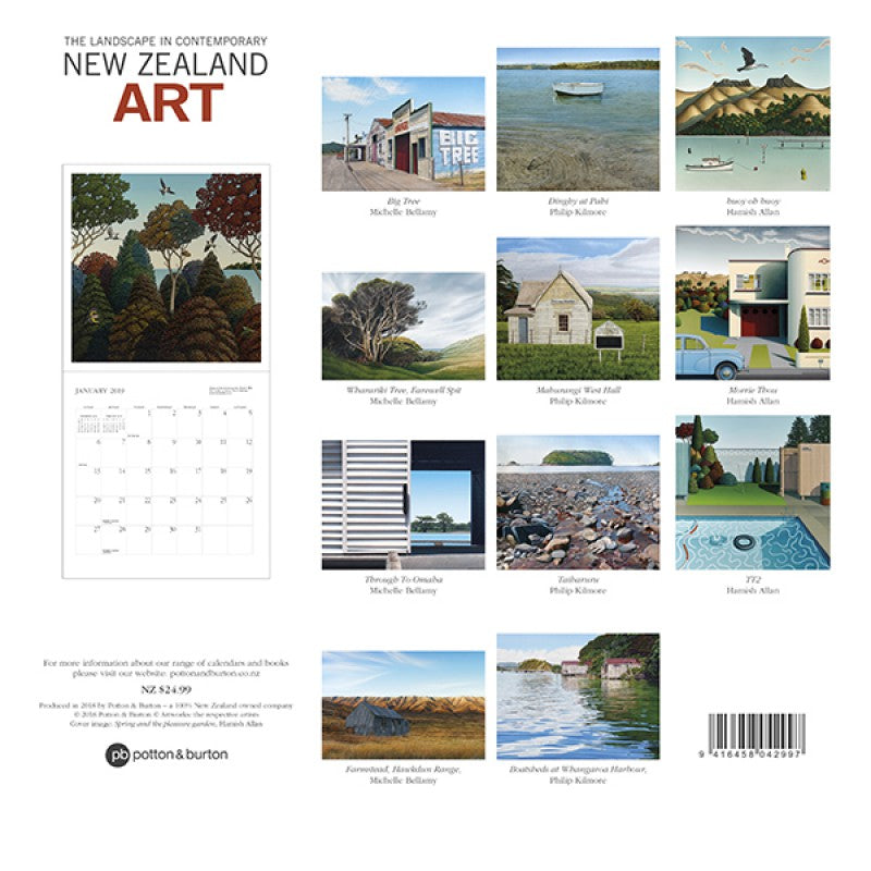 2019 landscape in contemporary new zealand art calendar
