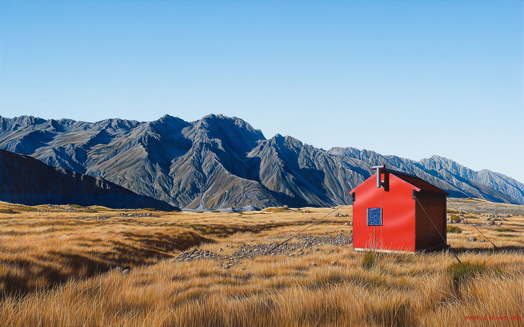 Ball Hut Alone, Tasman Glacier
