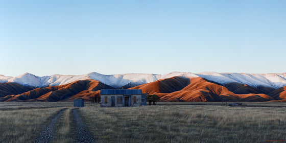 Falling dusk at the Hawkduns, Central Otago. By Nelson, NZ artist Michelle Bellamy.