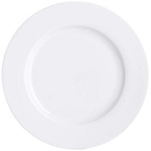 White Buffet Dinner Plate
