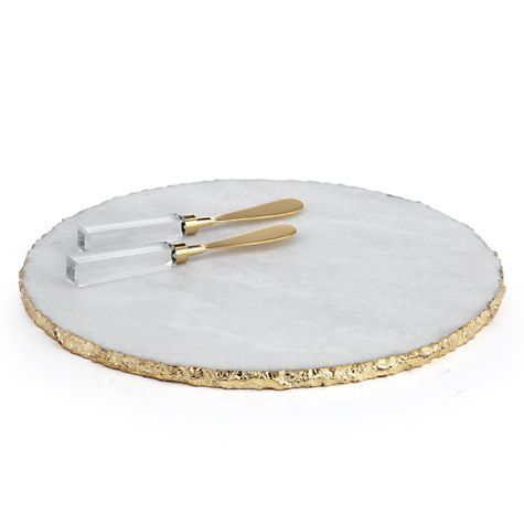 Marble Gold Rim Tray