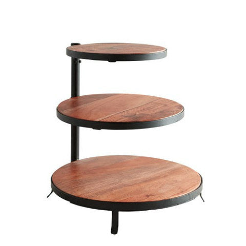 Wood Black 3-Tier