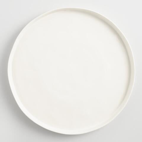 Ivory Ceramic Charger Plate