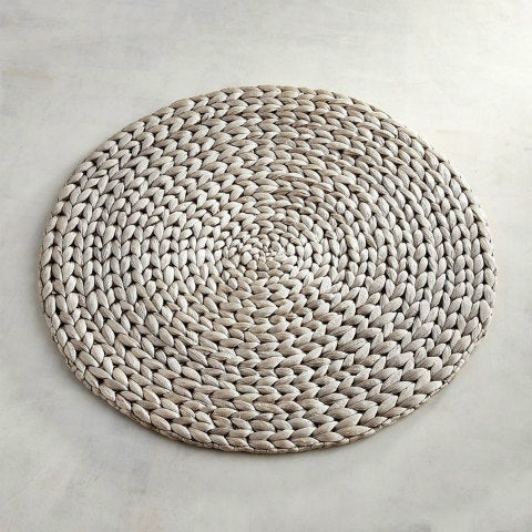 Metallic Wicker Hycinth Placemat