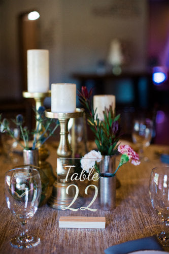 Gold Isabella Acrylic Table Numbers