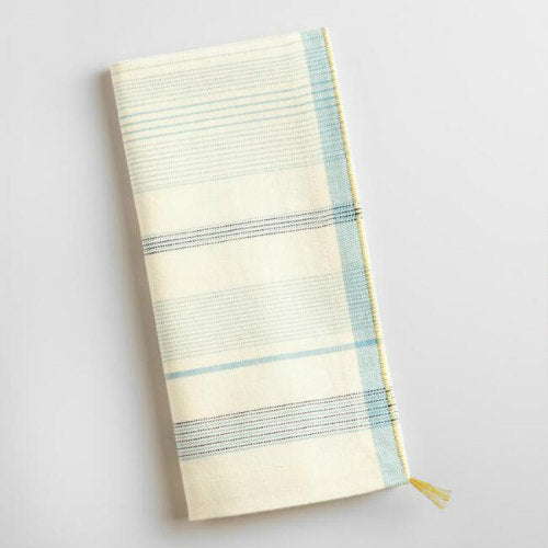 Blue/White Striped Linen Napkin