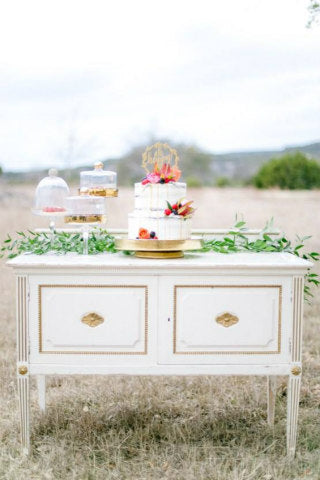Ivory & Gold Buffet Table