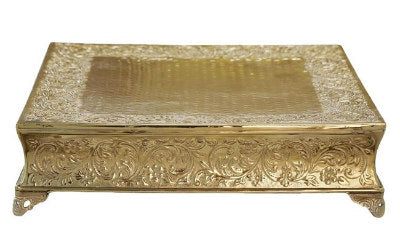 Large Gold Square Cake Stand