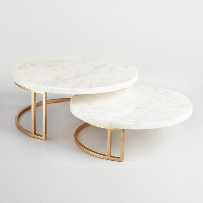 Marble & Gold Pedestal Cake Stand