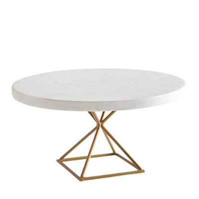 Marble & Gold Modern Cake Stand